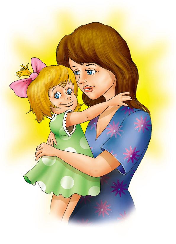 Рисунок мамы с дочками