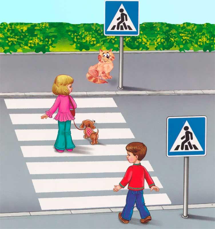 Красный сигнал светофора Плакат по ПДД  скачать и