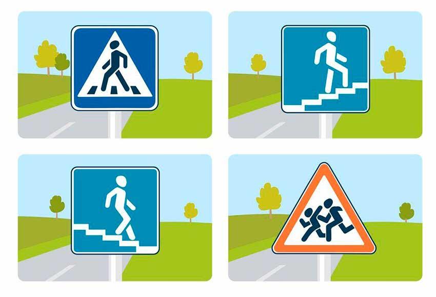 мультяшные правила дорожного движения картинки